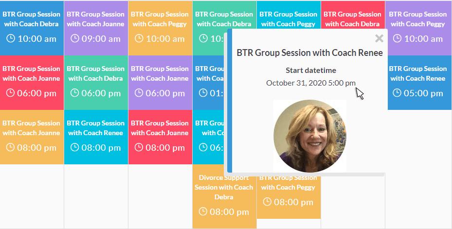 BTR Group Schedule