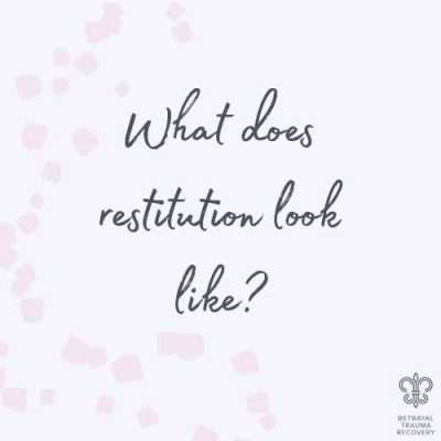 What Does Restitution Look Like?